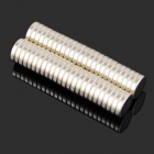 10*2mm NdFeB Neodymium Magnet Cylinder Puzzle - Silver (50PCS)