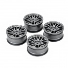 SIXXY BIKE CMW0047D 52mm ABS 12-Spoke Wheel Hubs for Electric / Oil Toy Model Car - Grey (4 PCS)