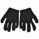 Elastic Cotton Family Cleaning Gloves - Black (Pair)