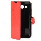 Lightning Pattern Protective PU Leather Cover TPU Hard Back Case Stand for XiaoMi M2 - Black + Red