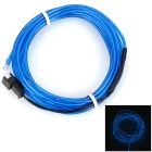 Decorative USB Powered 0.5W 20lm 490nm LED Blue EL Wire - Blue + Black (3m)
