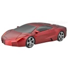 Sports Car Style USB MP3 Player Speaker w/ TF Slot - Red + Black