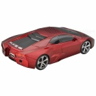 Sports Car Style USB MP3 Player Speaker w / TF Slot - Rojo + Negro