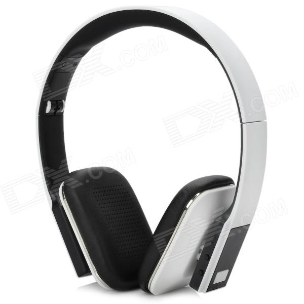 LONEN LB918 Bluetooth 3.0 Headphone w/ Microphone - White + Black + Silver - DXBluetooth Headphones<br>Brand LONEN Model LB918 Quantity 1 Color White Bluetooth Version 3.0 Ear Coupling Over the Ear Talk Time 6~8 Hour Standby Time 200 Hour Operating Range 15~20 meter Compatibility 2.1 / 2.0 / 1.2 / 1.1 Microphone Yes Supports Music Format All Compatible With Cellphone w/ Bluetooth function Iphone Notebook etc. Built-in Battery Capacity 200mAh Other Features Interface: Micro USB / 3.5mm; Enjoy stereo music wirelessly; Unique foldable design make it portable; Remote hand free two-way chat; Hi-Fi CD sound quality; Remote control to add further mobility; High-sensitive multi-directional speaker for virtual surround sound Packing List 1 x Earphone1 x English manual1 x 3.5mm audio cable (150cm)1 x Micro USB charging cable (80cm)<br>