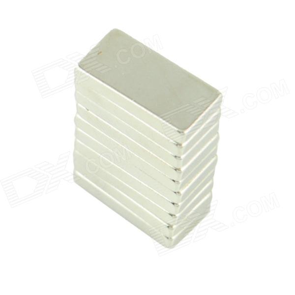NdFeB Square DIY Imanes - plata (20 x 10 x 3 mm / 10 PCS)