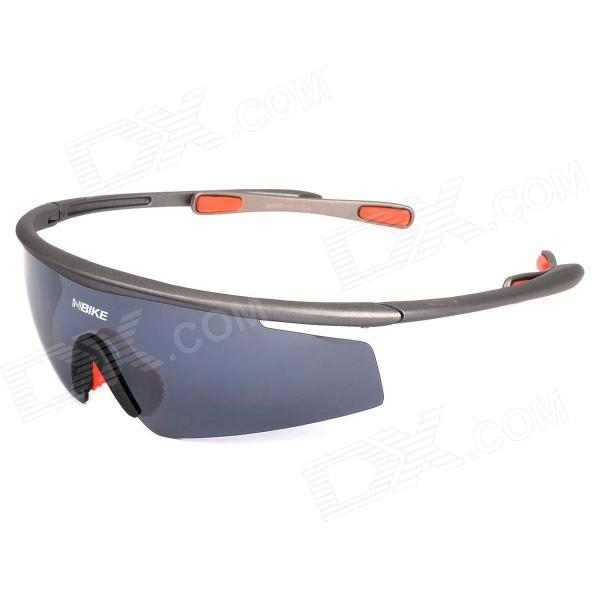 NBIKE 0943 Sports Bicycle Riding Polarized Resin Lens Sunglasses - Grey