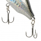 HaiNuo Lifelike Fat Fish Style Fishing Bait w/ Treble Hooks - Black + Silver