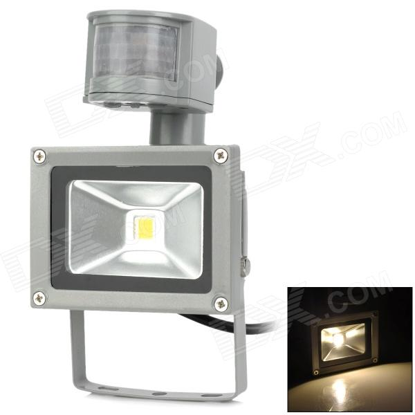JR-10W-WW-GYTGD Body Sensor 10W 800lm 3500K LED Warm White Spotlight w/ Controller - Grey