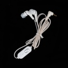 Stylish In-Ear Earphone w/ Microphone - White (3.5mm-Plug / 115cm-Cable)