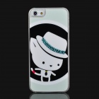 Cartoon Mouse Pattern Protective Plastic Case for Iphone 5 - White + Black + Light Green