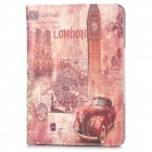 London Big Ben Style Protective PU Leather Case for Ipad MINI - Brown