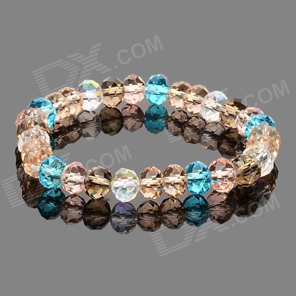 S-001 Colorful Crystal Bracelet for Women delicate colorful hand knitted bracelet for women one piece