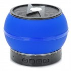 LXBT-02S Portable 5.1-Channel Mini Bluetooth v2.1 Bass Speaker w/ Microphone - Blue + Black