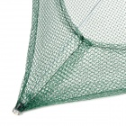 Umbrella Estilo Pesca Folding Crab Net - verde + Preto + Prata