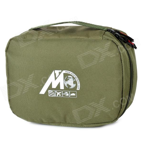 TravelIcons TF222N Portable Oxford Fabric Travel Business Wash Bag for Men - Green