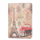 Paris Eiffel Tower Style Protective PU Leather Case for Ipad MINI - Brown + Red