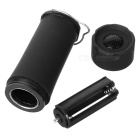 Outdoor 100lm 3-Mode LED Zooming Flashlight / Camping Lamp / Lantern - Black (3 x AAA)