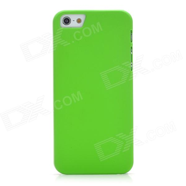 Protective PVC Hard Back Case for Iphone 5 - Green
