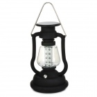 RY-T92 solarbetriebene Handkurbel 16-LED White Light Outdoor Camping Laterne - Schwarz
