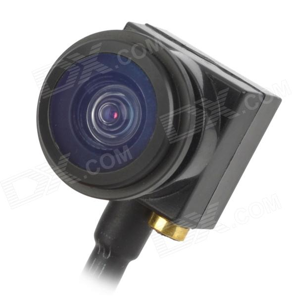 "Mini 1/4"" CMOS 600TVL vidvinkel Fish Eye lins FPV Camera - svart (NTSC)"