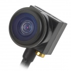 "Mini 1/4"" CMOS 600TVL Wide Angle Fish Eye Lens FPV Camera - Black (NTSC)"