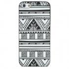 Relief Style Glow-in-the Dark Protective TPU Back Case for Iphone 5 - Black + White