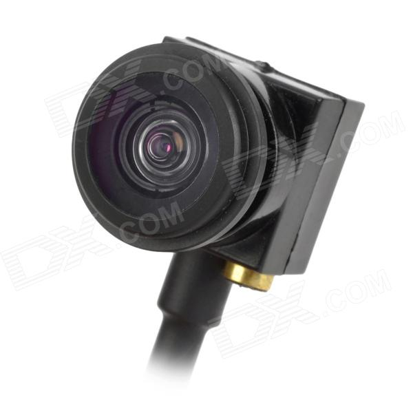 "Mini 1/4 ""CMOS 600TVL Peixe Grande Angular Vista Angular FPV Camera - Black (PAL)"