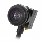 "Mini 1/4"" CMOS 600TVL Wide Angle Fish Eye Lens FPV Camera - Black (PAL)"