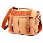 911BR Fashion Protective Canvas DSLR Camera Shoulder Bag - Brown