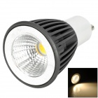 GU10 5W 300lm 3500K LED Warm White Light Bulb - Black + White (85~265V)