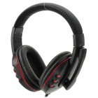 Stylish Headphones w/ Microphone for PS3 / PS3 Slim / PS3 CECH4000 - Black + Red
