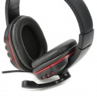 Stylish Headphones w/ Mic for PS3 ,PS3 Slim, PS3 CECH4000 - Black+Red
