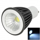 GU10 5W 300lm 6500K LED White Light Bulb - Black + White (85 ~ 265V)