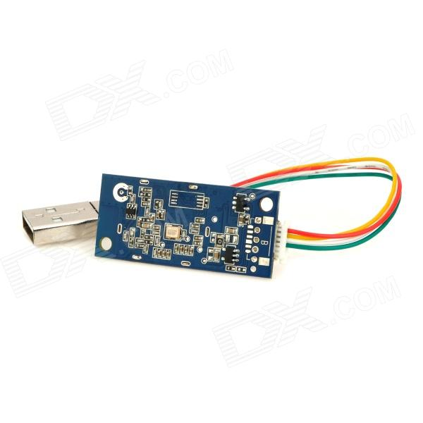 V70 USB to Wi-Fi 150Mbps Wireless Network Card Module - Blue + Silver yec ccs pcu