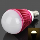 E14 3W 200lm 3000K 3-LED Warm White Dimmable Light Bulb - Red + White (220V)