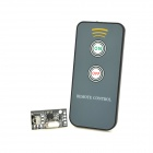 V108 IR Remote Receive Module + 2-Key Remote Controller - Black + Silver