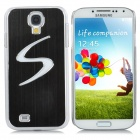 """S"" Style Protective Back Case w/ Caller Signal Flashing LED for Samsung Galaxy S4 i9500 - Black"