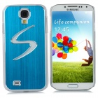 """S"" Style Protective Back Case w/ Caller Signal Flashing LED for Samsung Galaxy S4 i9500 - Blue"