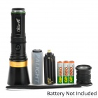 UltraFire AF-13 250lm 3-Mode White Zooming Flashlight w/ CREE XP-E Q5 - Black + Golden (1 x 18650)