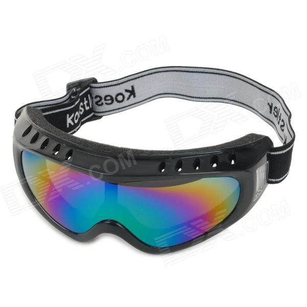 Anti-Dust UV Protection Goggles w/ Elastic Strap - Black