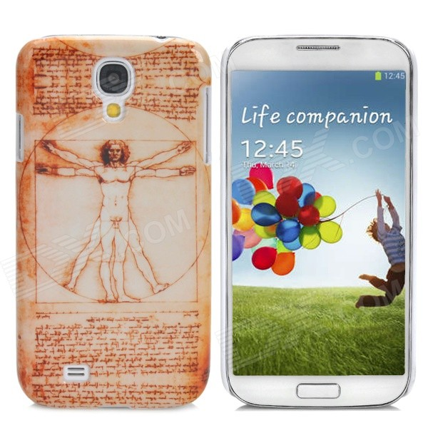 Protective Naked Man Back Case for Samsung Galaxy S4 i9500 - Brown