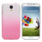 Water Drop Gradual Change Style Back Case for Samsung Galaxy S4 / i9500 - Pink + White