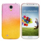 Protective Rain Drop Style Back Case for Samsung Galaxy S4  - Translucent Pink + Translucent Yellow