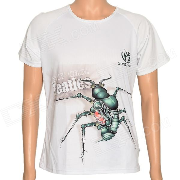 XINGLONG Science Fiction Ant Pattern T-Shirt for Men - White (Size: XL)