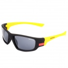 2064 Cycling Riding UV400 Protection Resin Lens Sunglasses - Black + Yellow