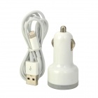 Dual-USB Car Charger Adapter + USB to 8-Pin Lightning Data / Charging Cable for iPhone 5 / iPad 4