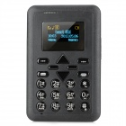"Super Slim GSM Card Phone w/ 1.1"" Screen, Quad-Band, Single-SIM and FM - Black"