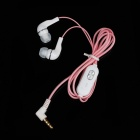 Stylish In-Ear Earphone w/ Microphone - Pink (3.5mm Plug / 115cm-Cable)