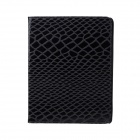 Protective Snake Skin  PU Leather Smart Case for Ipad 2 / 3 / 4 - Black