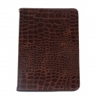 Protective Crocodile Skin PU Leather Smart Case for Ipad MINI - Brown